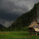 Approaching storm, Nong Khiaw, Laos. by Syd Winer
