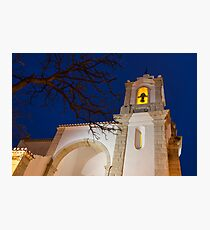 Gloriously Lit Blue Hour - Igreja De Santo Antonio in Lagos Portugal Photographic Print