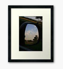 Rear view landscape Framed Print