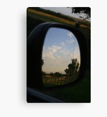 Rear view landscape Canvas Print