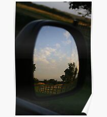 Rear view landscape Poster