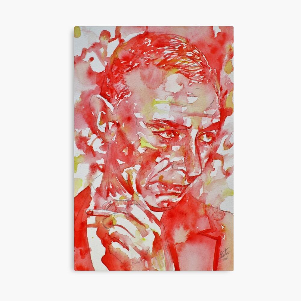 ROBERT OPPENHEIMER - Aquarellportrait.3 Leinwanddruck