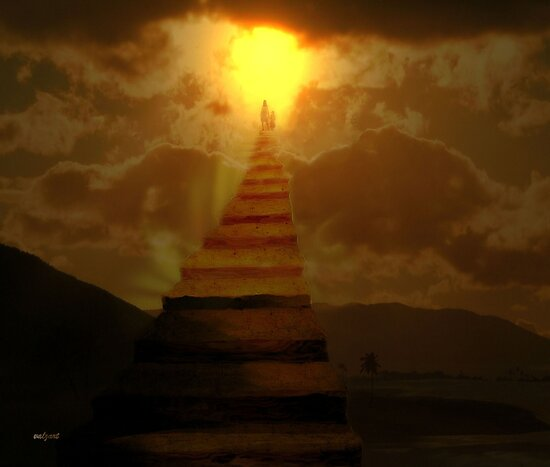 Stairway to heaven by Valerie Anne Kelly