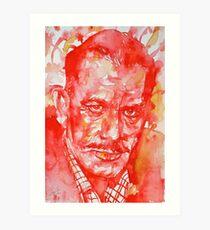 JOHN STEINBECK - watercolor portrait Art Print
