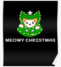 Catmas Meowy Christmas Ugly Sweater Christmas Poster