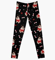 Pug Xmas Pattern Leggings