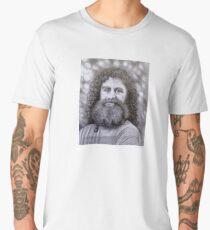 Robert Sapolsky Portrait Pencil Drawing Men's Premium T-Shirt
