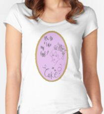 How do I like my eggs...? Women's Fitted Scoop T-Shirt