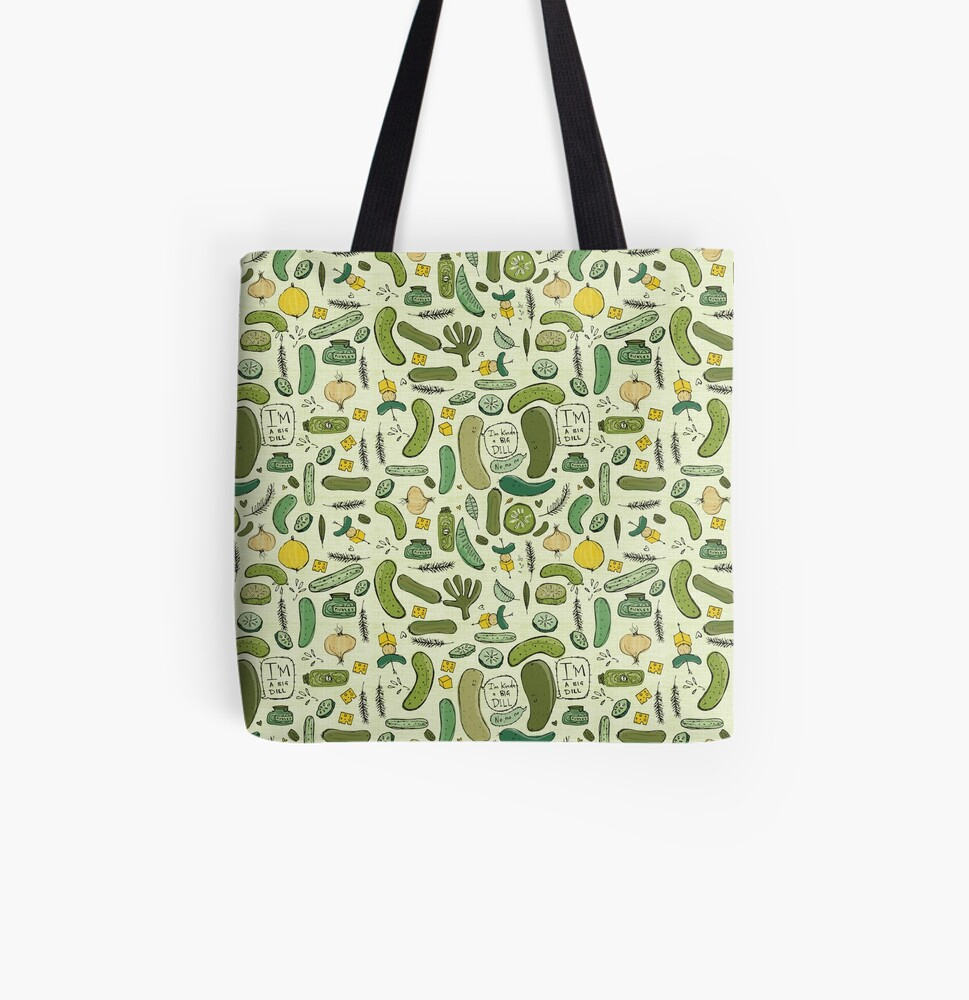 Pickles All Over Print Tote Bag