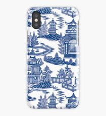 Ming China - Blue And White Chinoiserie iPhone Case/Skin
