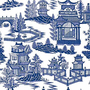 Ming China - Blue And White Chinoiserie by SweetDominique