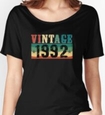 25th Birthday Gift Tshirt Vintage 1992 Retro Style  Women's Relaxed Fit T-Shirt