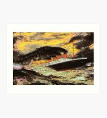 A Famous Steamship in the Style of the Masters Art Print
