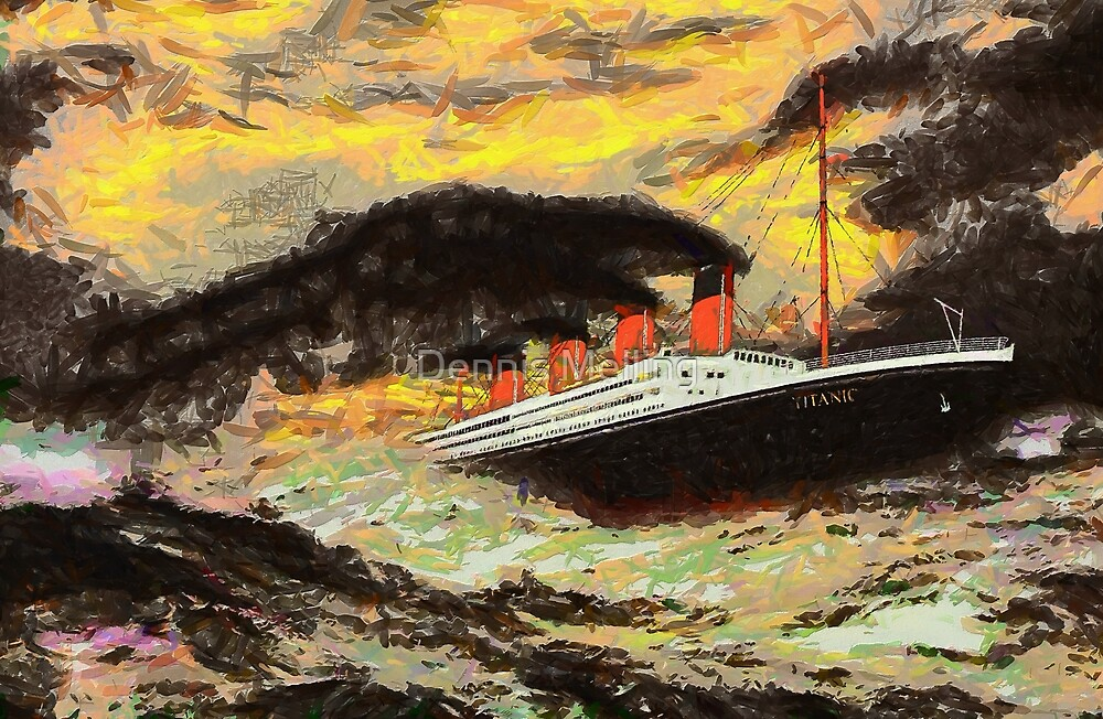 A Famous Steamship in the Style of the Masters by Dennis Melling