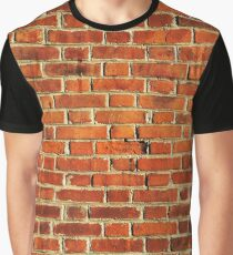Red Brick Wall Graphic T-Shirt