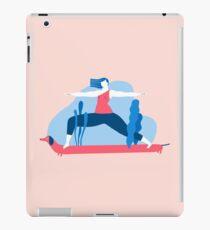 Yoga Girls 1 The She Warrior Pose iPad Case/Skin
