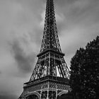 Eiffel Tower B&W by Luca Cremasco