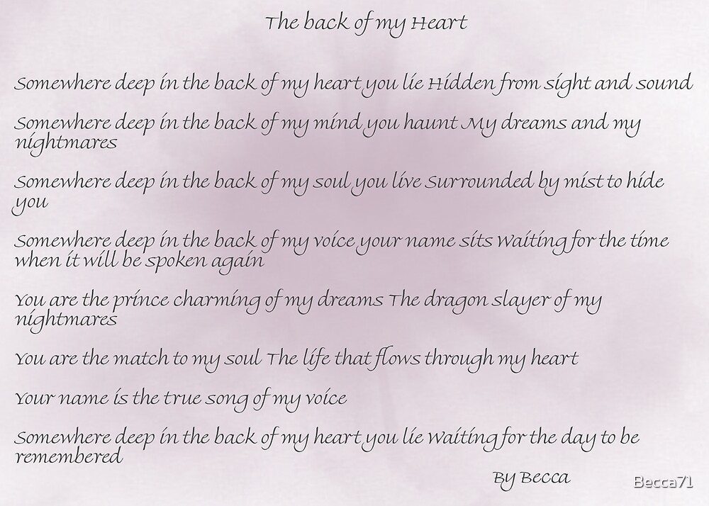 The Back of My Heart by Becca71