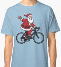 Santa Claus Riding A Road Bike Classic T-Shirt