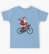 Santa Claus Riding A Road Bike Kids Clothes
