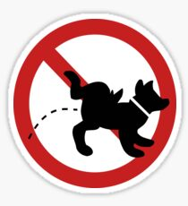Kein Hundepinkzeichen. Sticker