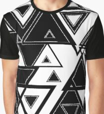 black and white triangles Graphic T-Shirt