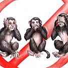 Three monkeys by Furiarossa