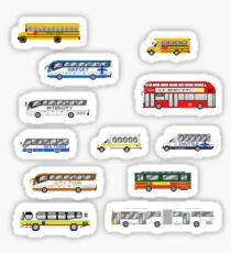 Buses - The Kids' Picture Show - Pixel Art Sticker