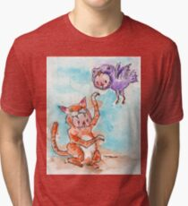 Truly a Wonder of Nature this Urban Predator. Tri-blend T-Shirt