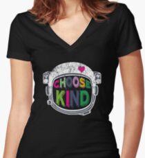 Choose Kind, Choose Kindness Holiday Gift Women's Fitted V-Neck T-Shirt