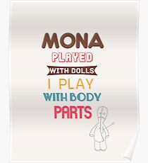 Mona played with dolls - Pretty Little Liars design - PLL Poster