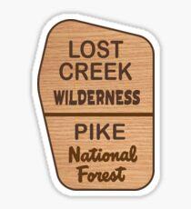 Lost Creek Wilderness, Pike National Forest Sticker