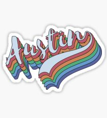 Retro Austin Texas Design | Vintage Austin  Sticker