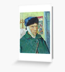 Vincent Van Gogh Cut Ear Greeting Card