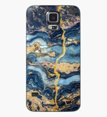 Gold Blu marble  Case/Skin for Samsung Galaxy