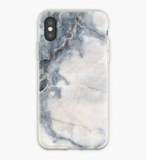 White Marble Blue Marble  iPhone Case