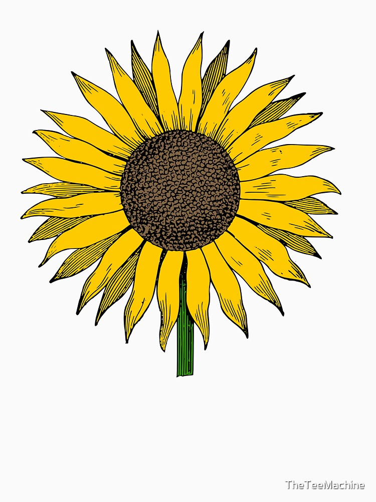 sunflower drawing cute sunflower art drawing classic t shirt by