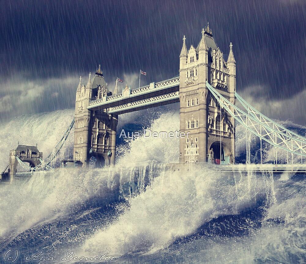 Floods - Tower Bridge  by Aya Demeter