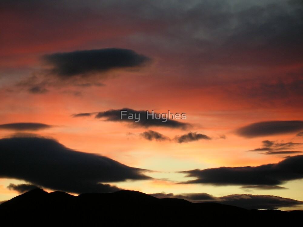 Red sky at night... by Fay  Hughes