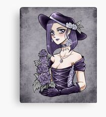 Rose Lady manga gothic girl Canvas Print