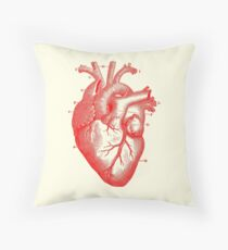 Anatomical Heart Tote Bag  Throw Pillow