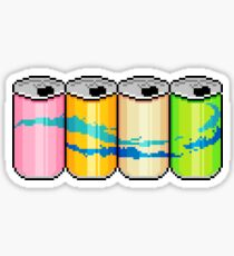 Sparkly water cans Sticker