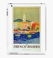 Vintage Travel Poster - The French Riviera iPad Case/Skin