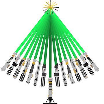 LightSaber Christmas Tree by kcgfx