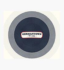 Germantown | Retro Badge Photographic Print