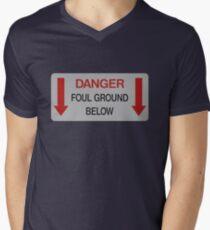 Foul Ground Below Men's V-Neck T-Shirt