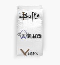Buffy, Willow, Xander Duvet Cover