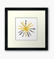 Lightsaber star Framed Print