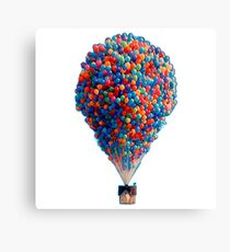Balloon House Remake - Floating Balloon House UP Sky Canvas Print