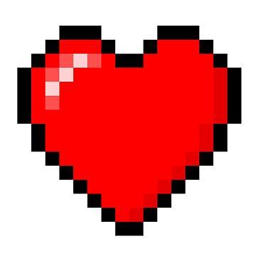 Pixel Heart - Cute Loving Pixel Heart Sticker by TheTeeMachine